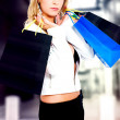 Fashion girl out shopping — Stock Photo