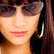 Fashion girl portrait with sunglasses — Stock Photo