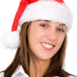 Royalty-Free Stock Photo: Female santa portrait