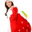 Stock Photo: Female santa claus portrait