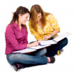 Female teenage students — Stock Photo