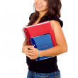 Female student with notebooks — Foto de stock #7569208