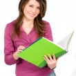 Female student with notebooks — Stock Photo #7569211