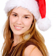 Female santa portrait - Stock Photo