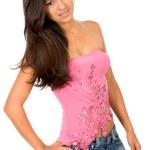 Beautiful girl in pink — Stock Photo #7569237