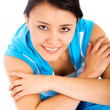 Casual girl portrait in gym clothes — Stock Photo #7569244
