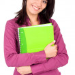 Female student with notebooks — Stock Photo