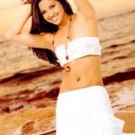 Beautiful girl at the beach — Stock Photo