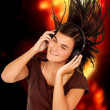 Girl listening to music — Stock Photo #7569259