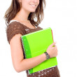 Female student with notebooks — Foto de stock #7569326