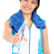 Girl offering water — Stock Photo #7569369