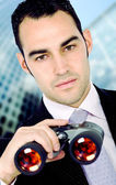 Business search - confident man — Stock Photo