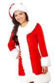 Female christmas santa — Stock Photo