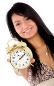 Alarm clock - girl — Stock Photo