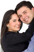 Młoda para uśmiechający się — Zdjęcie stockowe