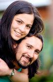 Couple portrait outdoors — Stock Photo