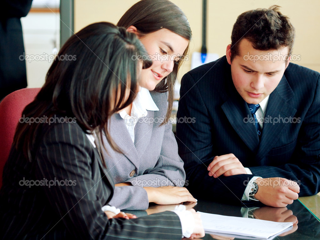 Business team in a meeting at the office — Stock Photo #7568462