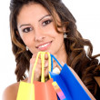 Royalty-Free Stock Photo: Happy girl with shopping bags