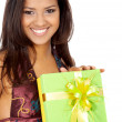 Happy girl with a gift — Stock Photo #7598343
