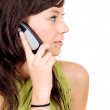 Stock Photo: Casual girl on the phone