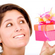 Stock Photo: Gift box girl