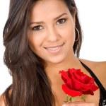 Beautiful girl in love — Stock Photo