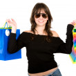Girl with shopping bags — Stock Photo #7598430