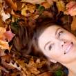 Autumn girl portrait — Foto Stock
