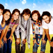 Group of young happy students — Stock Photo #7598464