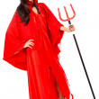 Stock Photo: Female red devil