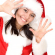 Christmas female santa - Stock Photo