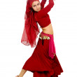 Beautiful arabic belly dancer - Stockfoto