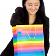 Business woman with shopping bags — Stock Photo
