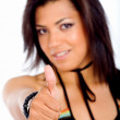 Royalty-Free Stock Photo: Casual girl - thumbs up
