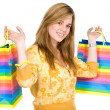 Girl with shopping bags — ストック写真