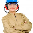 Female manual worker — Stock Photo