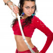 Stock Photo: Arabic dancer with sword