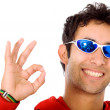 Royalty-Free Stock Photo: Cool guy doing the ok sign