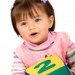 Early learning girl — Stock Photo