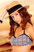 Beautiful bikini girl — Stock Photo