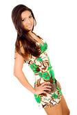 Fashion girl wearing a summer dress — Stock Photo