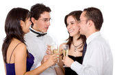 Friends having a drink — Stock Photo