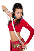 Arabic dancer with a sword — Stock Photo