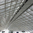 Abstract roof in paris airport - Stock Photo
