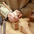 Carpenter at work - Stock Photo