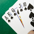 Stock Photo: Royal flush with spades