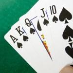Royal flush with spades — Stock Photo