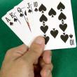 Aces royal flush - spades — Stock Photo
