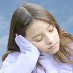 Girl sleeping — Stock Photo