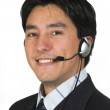Business man with headset — Stock Photo #7632874